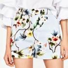Patterned Basic Shorts