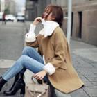 Fleece-panel Long Coat