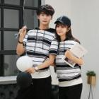Couple Matching Short-sleeve Hooded T-shirt