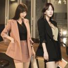 Set: Buttoned Blazer + Mini Fitted Skirt