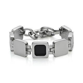 Onxy Square Bracelet Silver - One Size