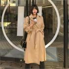 Long Wrap Coat With Sash