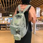 Set: Tagged Nylon Backpack + Pouch