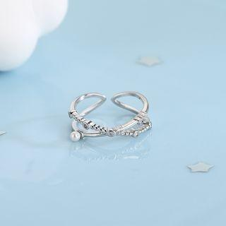 925 Sterling Silver Open Ring Rs526 - Silver - One Size