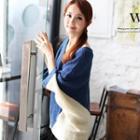 V-neck Color-block Knit Top