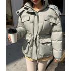 Hooded Drawstring-waist Puffer Jacket
