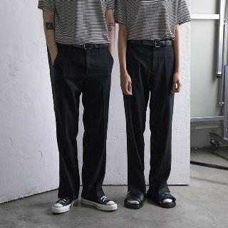 Slit-cuff Straight Leg Pants