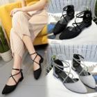 Strappy Low Heel Sandals