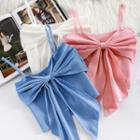 Plain Bow Cropped Camisole Top