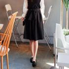 Tie-waist Flare Skirt
