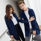 Couple Matching Corduroy Long Shirt