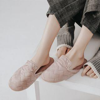 Chevron Quilted Slippers