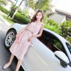 Set: Pleated Camisole Top + Midi Pleated Skirt