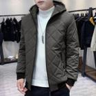 Quilted Hooded Zip Jacket