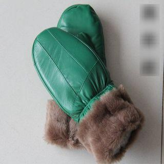 Genuine Leather Mittens