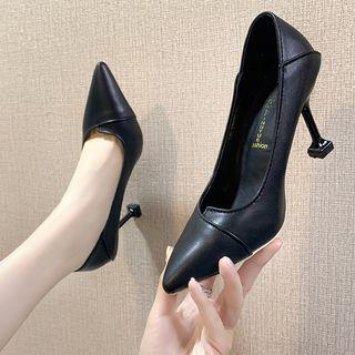 Pointy Asymmetric High Heel Pumps
