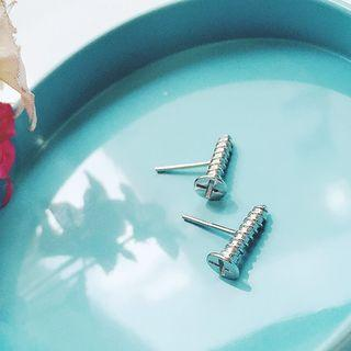 Sterling Silver Screw Studs
