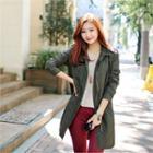 Tab-sleeve Buttoned Jacket
