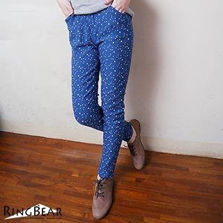 Star Print Slim Fit Pants