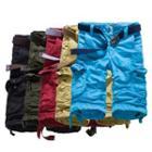 Plain Cropped Cargo Pants