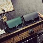 Chain Detail Faux Leather Shoulder Bag
