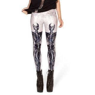 Skeleton-print Leggings D002 - One Size