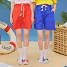 Drawstring-waist Beach Shorts
