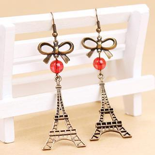 Paris Eiffel Tower Earrings  Other Color - One Size
