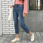 Slit Straight Jeans