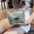Lace Transparent Mini Shoulder Bag With Pouch