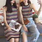 Striped Halter Tank Top / Striped Halter Dress