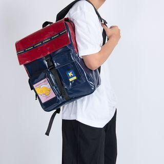 Print Two-tone Backpack