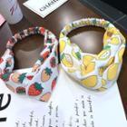 Fruit Print Knot Headband