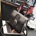 Buckled Handbag With Shoulder Strap