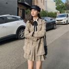 Set: Plaid Blazer + Pleated Skirt