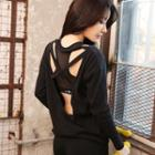 Sport Long-sleeve Cutout Top
