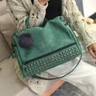 Studded Pom Pom Convestable Crossbody Bag