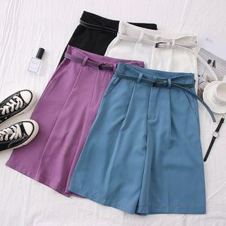 High-waist Dress Shorts With Belt
