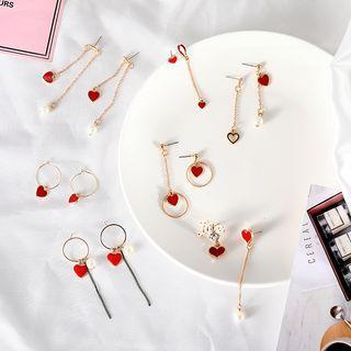 Heart Dangle Earrings (various Designs)