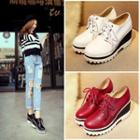 Contrast Wedge Oxfords