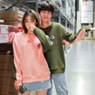 Couple Matching Printed Two-tone Pullover