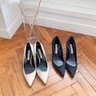 Spool-heel Pointy Stilettos