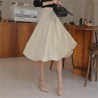 High-waist Midi Flare Skirt