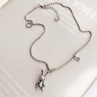 Rabbit Pendant Necklace Wxl-52 - Rabbit - One Size