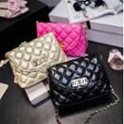 Quilted Patent Crossbody Bag