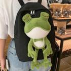 Frog Detail Canvas Backpack