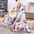 Chiffon Floral Maxi Skirt