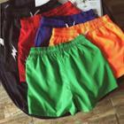 Flash Embroidered Drawstring Waist Shorts