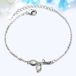 Leaf Bracelet White Gold - One Size