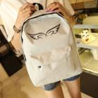 Wings Print Backpack